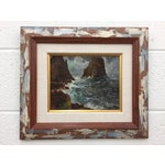 Image of Framed & Signed Seascape Oil Painting