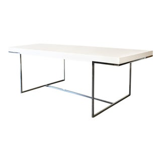 Vintage used white dining tables chairish - B b italia athos dining table ...