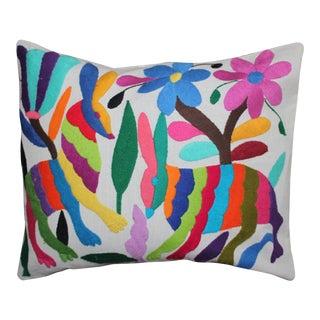 Hand-Woven Forest Otomi Pillow