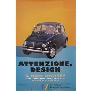 """2006 Italian Design Exhibition Poster, """"Attenzione, Design"""", Il Modo Italiano (Fiat 500)"""