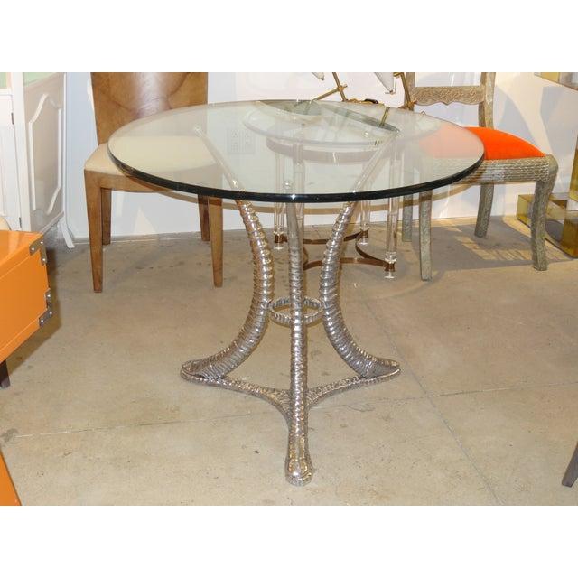 "Arthur Court ""Tusk"" Aluminum Dining Table - Image 2 of 6"