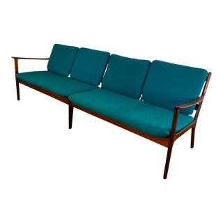 Ole Wanscher Danish Rosewood Four Seat Sofa