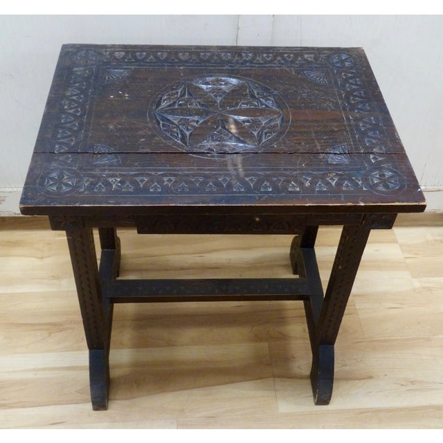 Swedish Folk Art Accent Table - Image 2 of 4