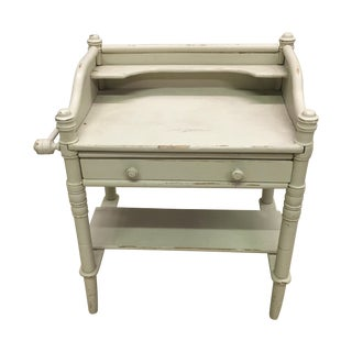 Antique French Miniature Faux Bamboo Washstand