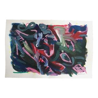 "Jessalin Beutler ""No. 90"" Acrylic Painting"