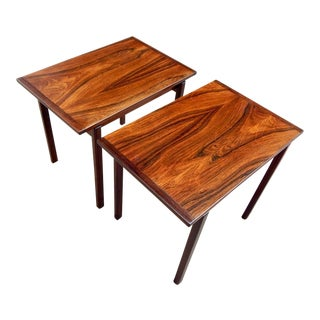Pair of Swedish Mid-Century Modern Rosewood Side Tables by Tiljstrom, 1960