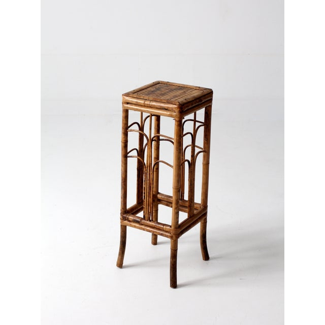 Vintage Bamboo Side Table - Image 6 of 8