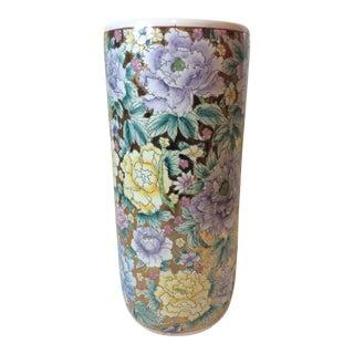 Chinese Ceramic Floral Umbrella Stand
