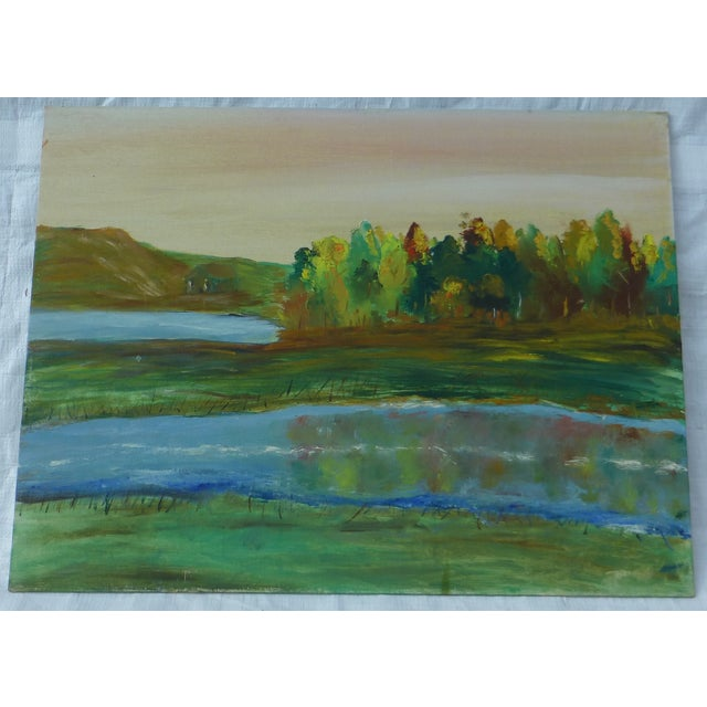 Image of Tree Reflection Painting by H.L. Musgrave