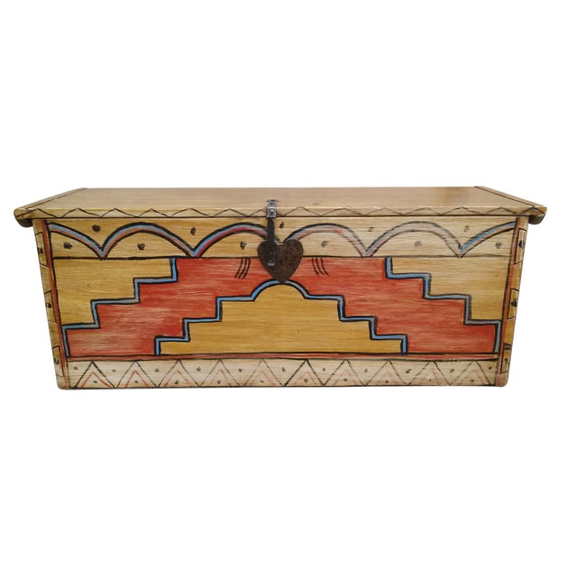 Hand Made Mexican Trunk by Carrington and Foss - Image 9 of 10