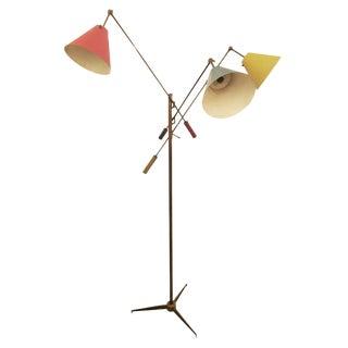 Triennale Floor Lamp by Angelo Lelli for Arredoluce, Marked, 1947