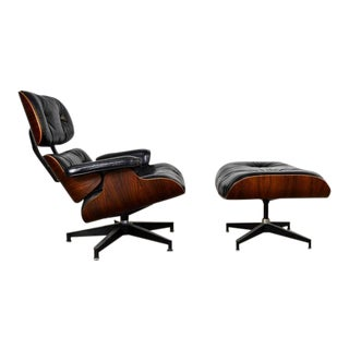 Eames 670 and 671 Lounge Chair and Ottoman in Rosewood
