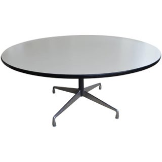 Mid-Century Oversized Round  Dining Table