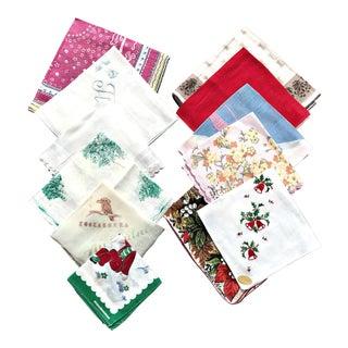 Vintage Designer Signed Handkerchief Collection - Set of 12