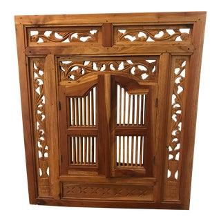 British Colonial Pierced Shutter Door Mirror