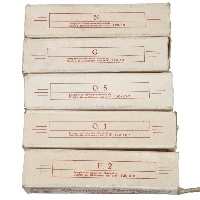 Vintage French Homeopathic Vials - Set of 5 - Image 5 of 6