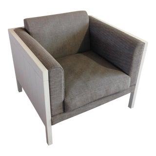 Modern Gray & White Club Chair