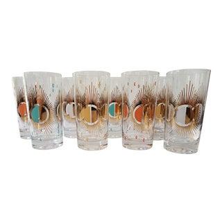 Fred Press Atomic Sunburst Glasses - Set of 8