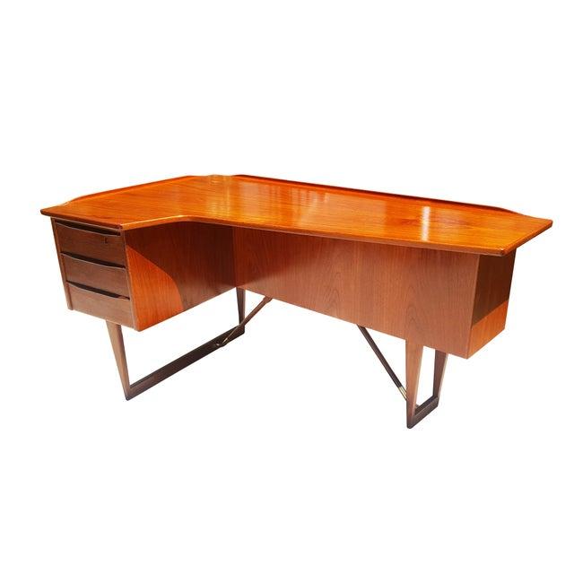 Danish Mid-Century Modern Peter Lvig Nielsen Boomerang Desk - Image 4 of 10