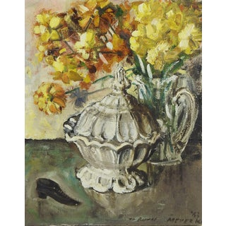 Modernist Still Life Oil Painting of Soup Tureen
