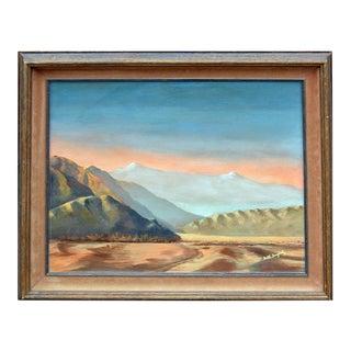 "Faith Dougherty ""Desert Mountains"" Painting"