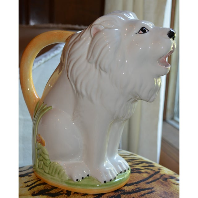 Vintage Italian Ceramic Lion PItcher - Image 8 of 10