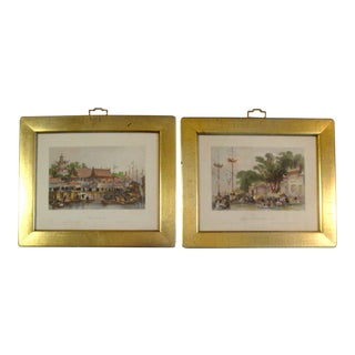 Antique Chinoiserie Scenic Engravings - A Pair