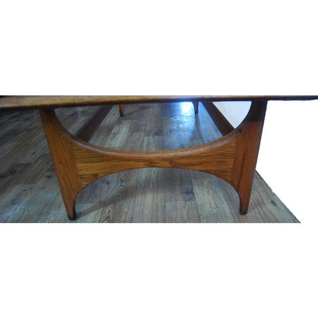Mid-Century Sculptured Walnut Cocktail Table