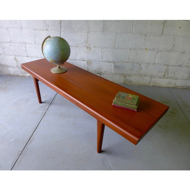 Mid-Century Modern Teak Coffee Table With Cubbies