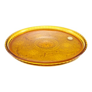 Amber Glass Rimmed Tray