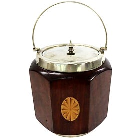 English Inlaid Georgian-Style Ice Bucket - Image 1 of 3