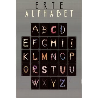 Erte-Alphabet-1977 Offset Lithograph-SIGNED
