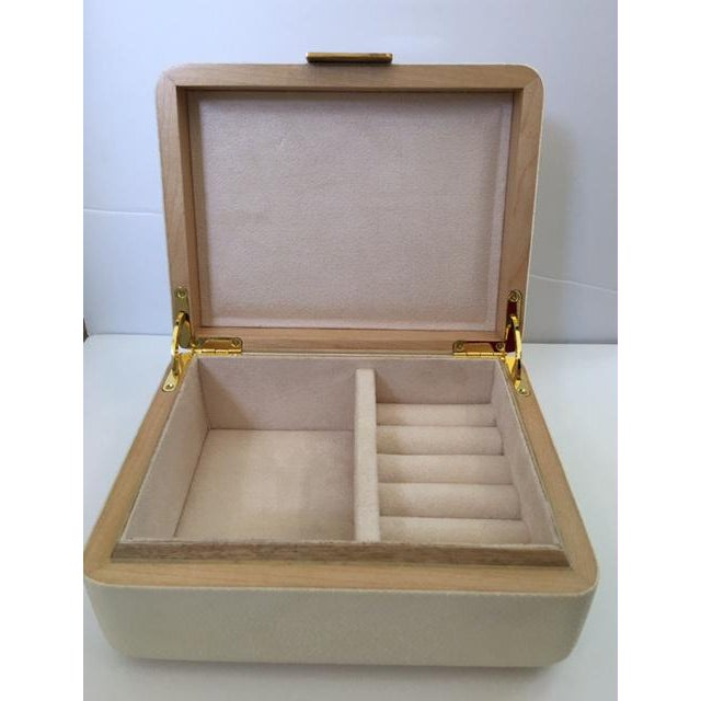 Cream Shagreen Jewelry Box - Image 5 of 6