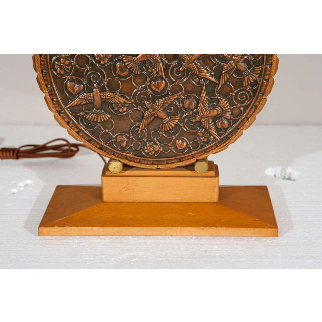 Repousse Table Lamp and Shade (Round Body) - Image 3 of 7