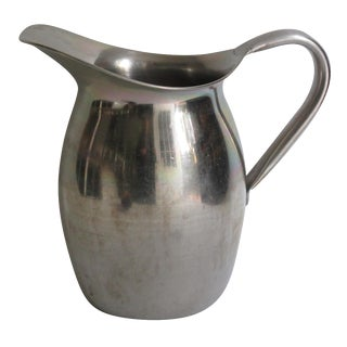 1970's Stainless Water Pitcher