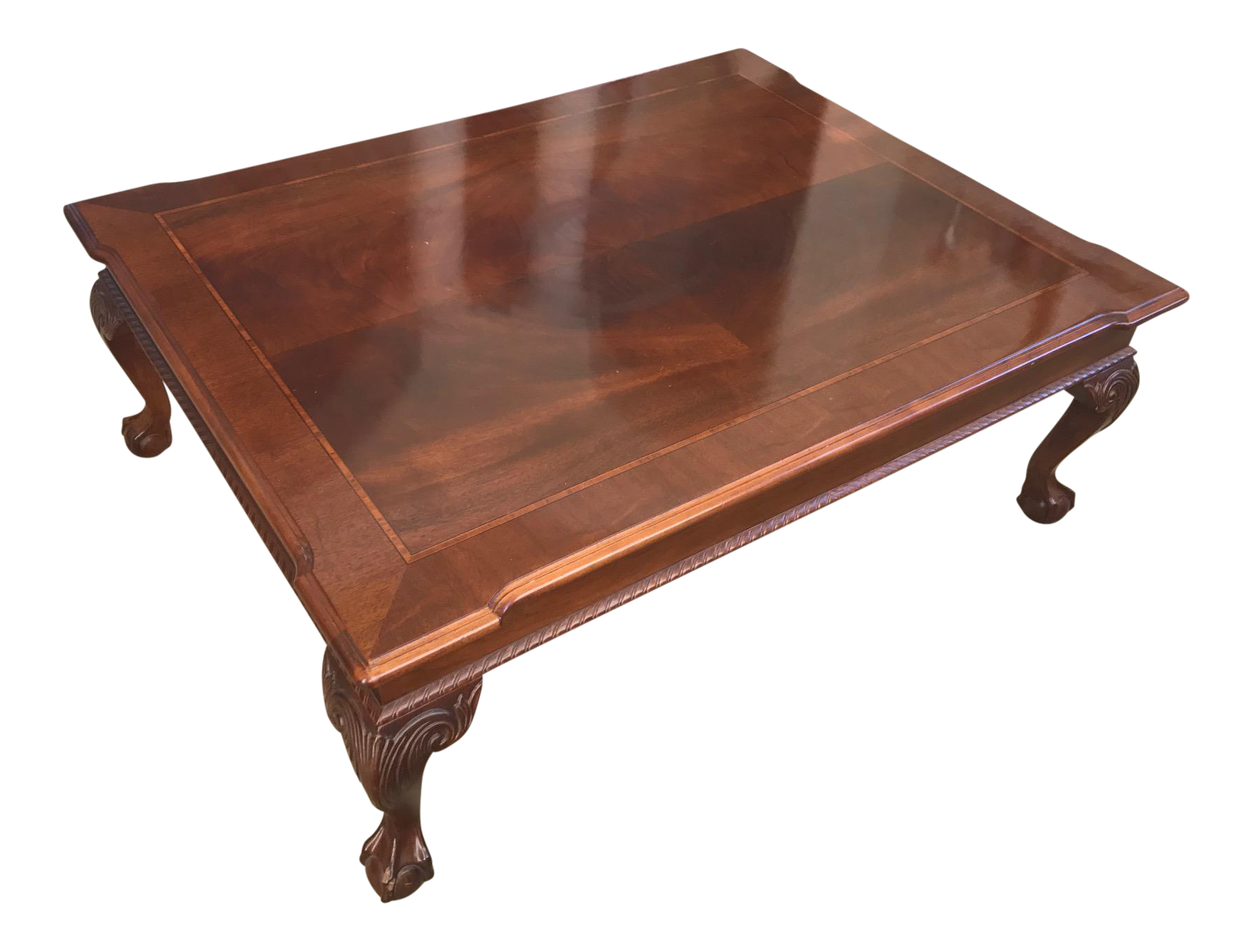 Queen Anne Mahogany Coffee Table By Ethan Allen