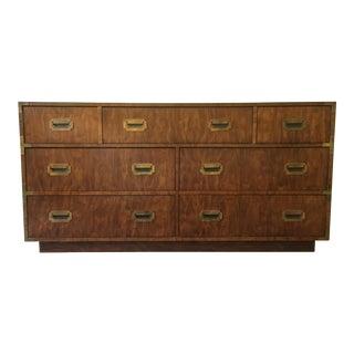 Vintage Dixie Campaigner Burled Wood Dresser