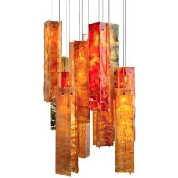 Image of Custom Glass Chandelier
