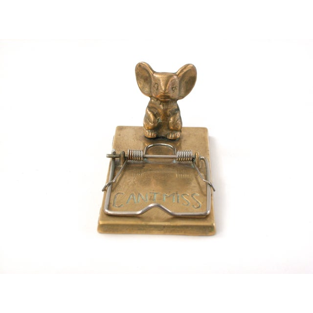 Image of Brass Mouse Trap Note Holder
