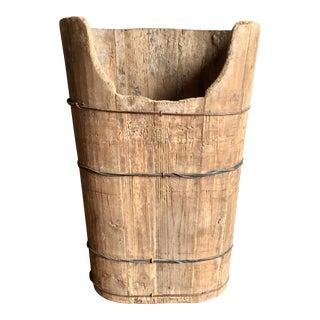 Antique Wood Gathering Bucket