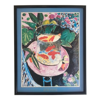 """Matisse Original Vintage 1989 Framed Lithograph Poster """"Goldfish"""", 1911"""