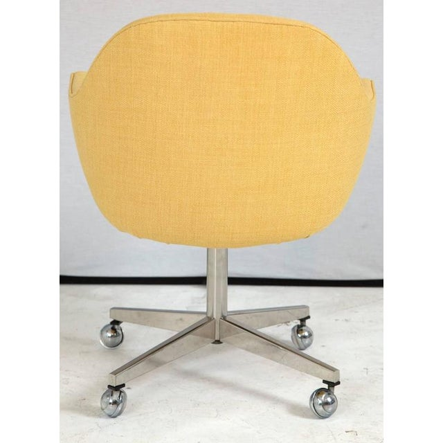 Knoll Desk Chair in Yellow Microfiber - Image 6 of 9