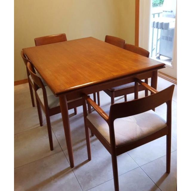 Teak Dining Room Table & Chairs - Set of 7 - Image 7 of 7