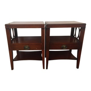 Drexel Mahogany Vintage Night Stands - A Pair
