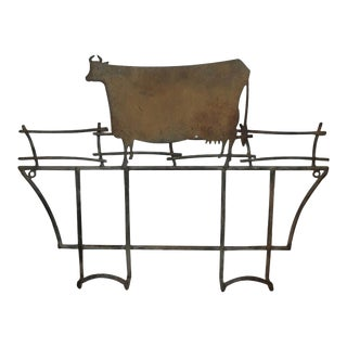Folk Art Cow / Dairy Rack