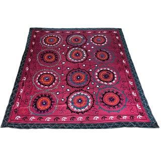 Vintage Pink Suzani Textile