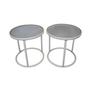 Brown Jordan Mid Century Aluminum Side Tables (A)