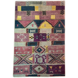 New Moroccan Hand Knotted Area Rug - 6' x 8'9""
