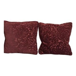 Custom Chenille Pillows - A Pair