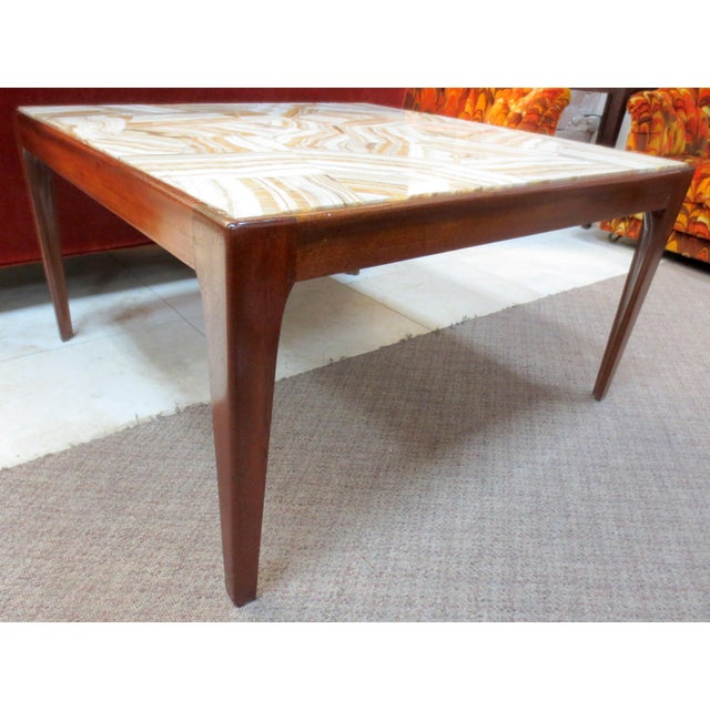 Ed Wormley Dunbar Travertine Coffee Table - Image 2 of 9